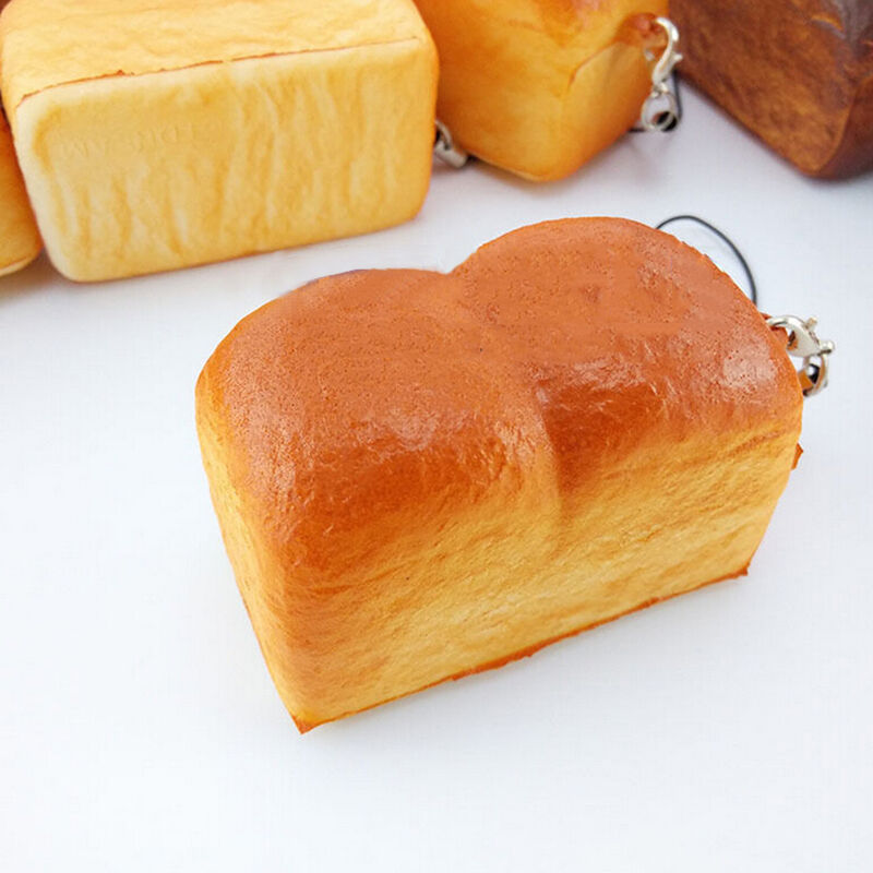 Squishy Loaf Of Bread : 1X Jumbo Loaf Simulation Bagels Squishy Soft phone Charm Bread Scented Strap JP eBay