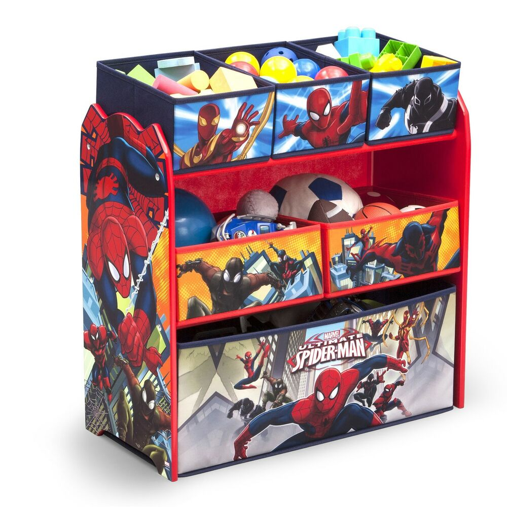Paw Patrol Toy Organizer Bin Cubby Kids Child Storage Box: Toy Bin Organizer Kids Storage Bins Box Spider-Man