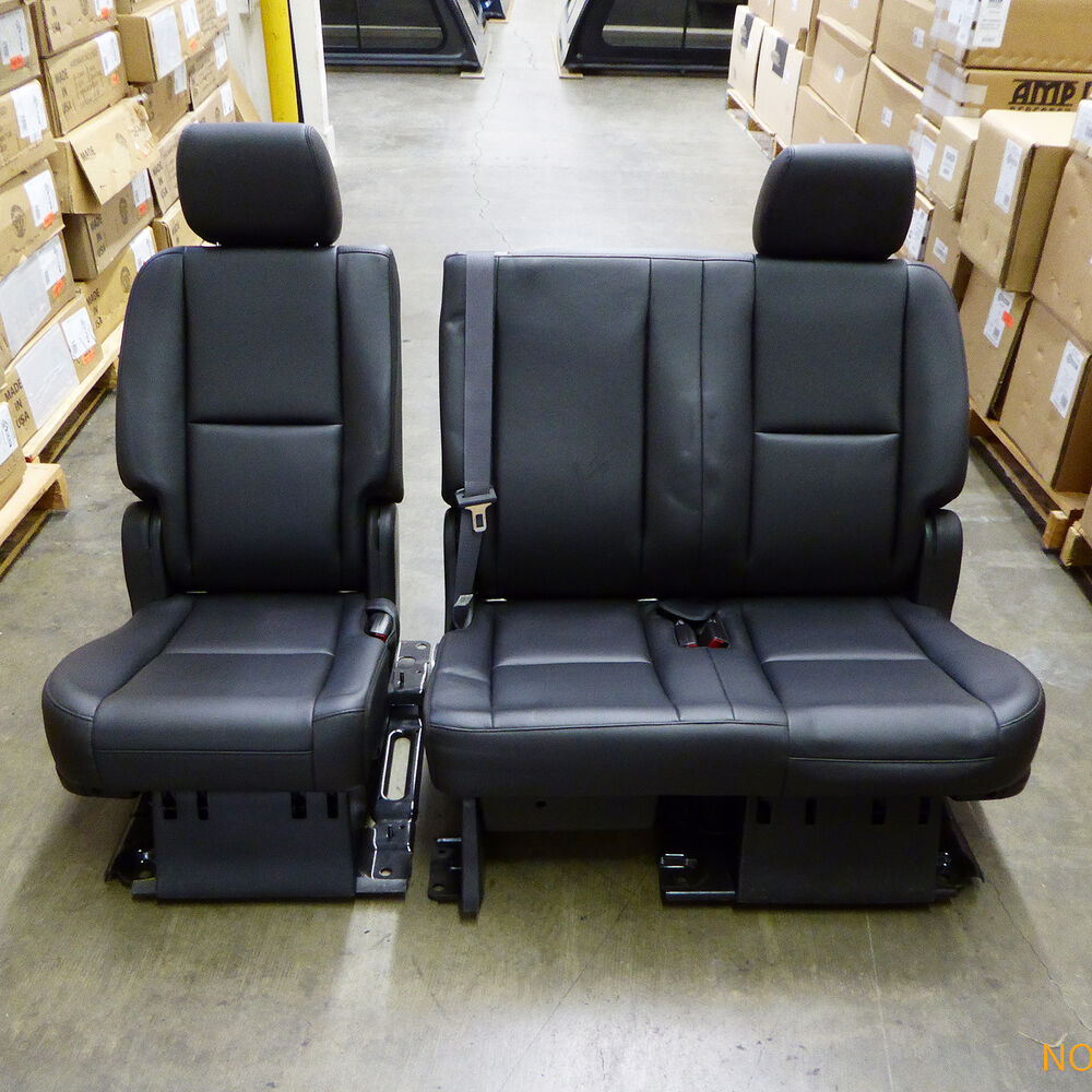 2007 2014 Yukon Tahoe Escalade 2nd Second Row Black Bench