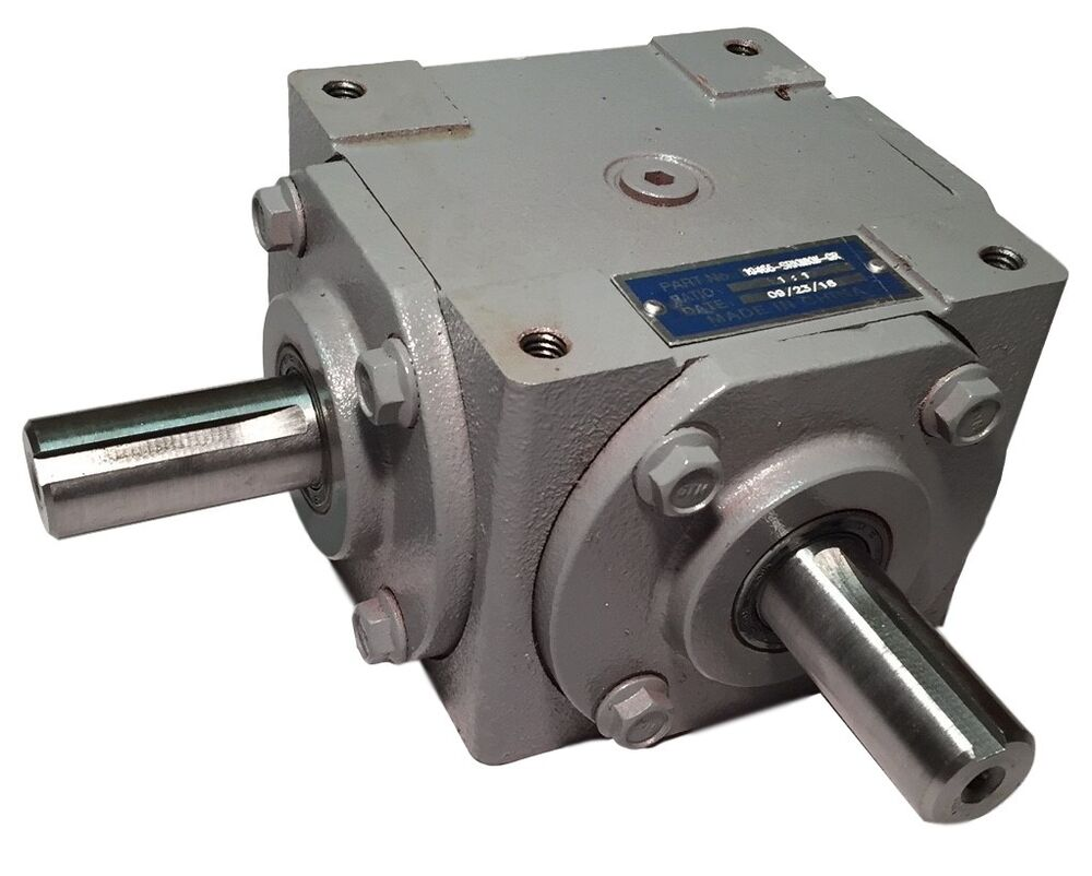 Right Angle Transmission : Hp right angle bevel gearbox with keyed shafts cw