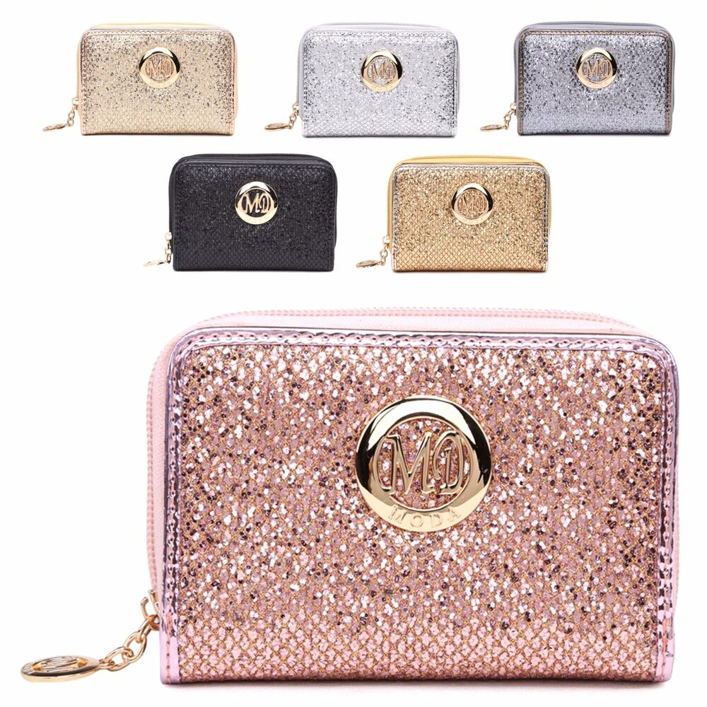 ladies designer glitter purse evening party wallet clutch bag boxed m010 268 ebay. Black Bedroom Furniture Sets. Home Design Ideas