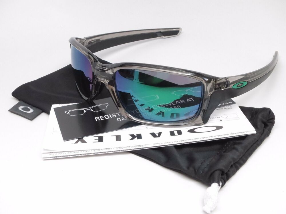 707b99b4e53ec Details about New Authentic Oakley Straightlink OO9331-03 Grey Ink w Jade  Iridium Sunglasses