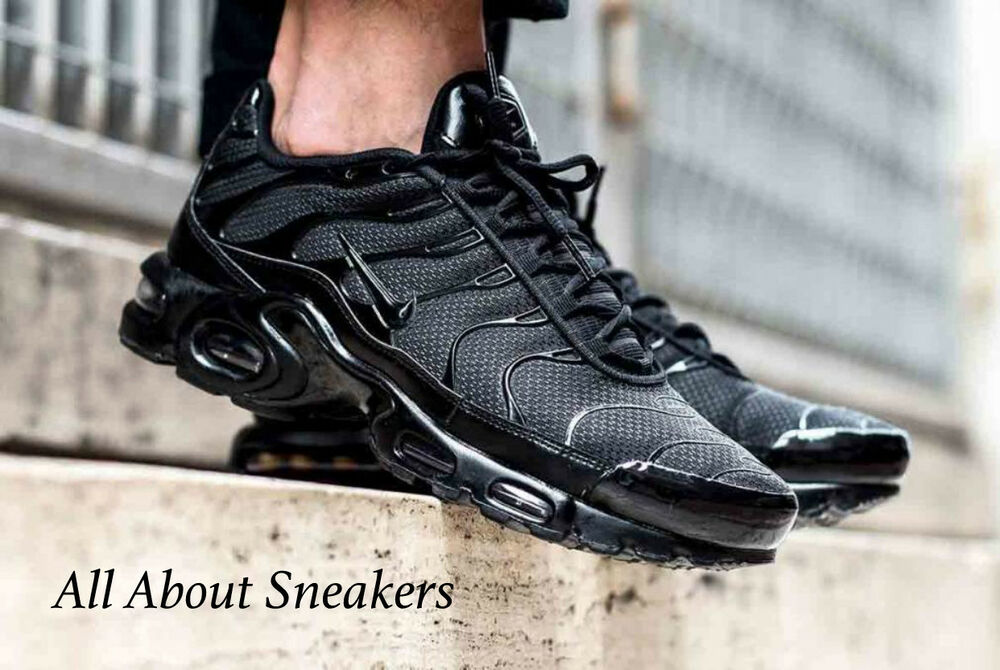 nike air max plus tuned 1 tn triple black 6 7 8 9 10 11 12. Black Bedroom Furniture Sets. Home Design Ideas