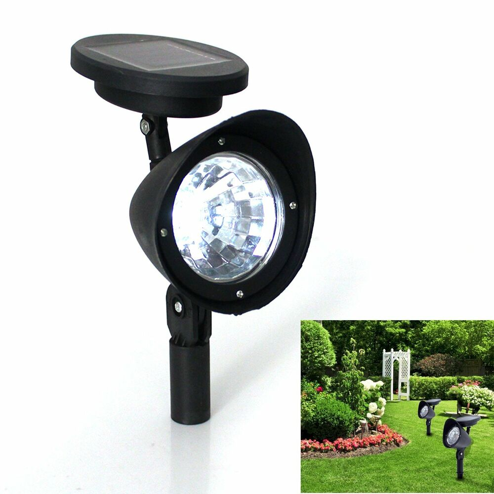 solar 4 led garden lamp spot light lawn landscape party path outdoor spotlight ebay. Black Bedroom Furniture Sets. Home Design Ideas