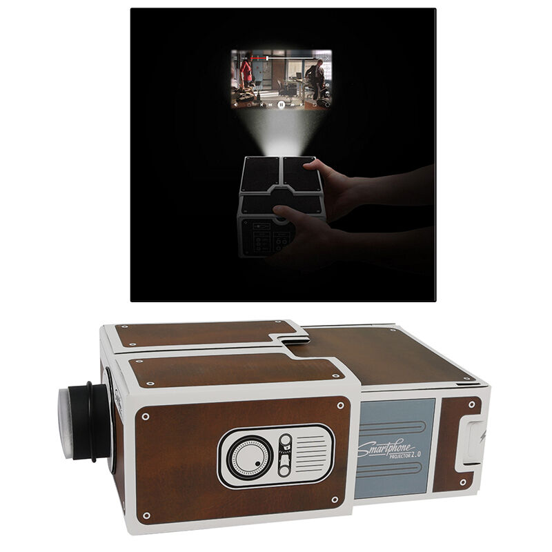 Diy mini cardboard smartphone projector mobile phone home for How to make mobile projector