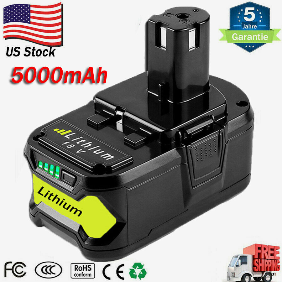 new 4000mah 18 volt p108 for ryobi 18v one plus lithium high capacity battery ebay. Black Bedroom Furniture Sets. Home Design Ideas