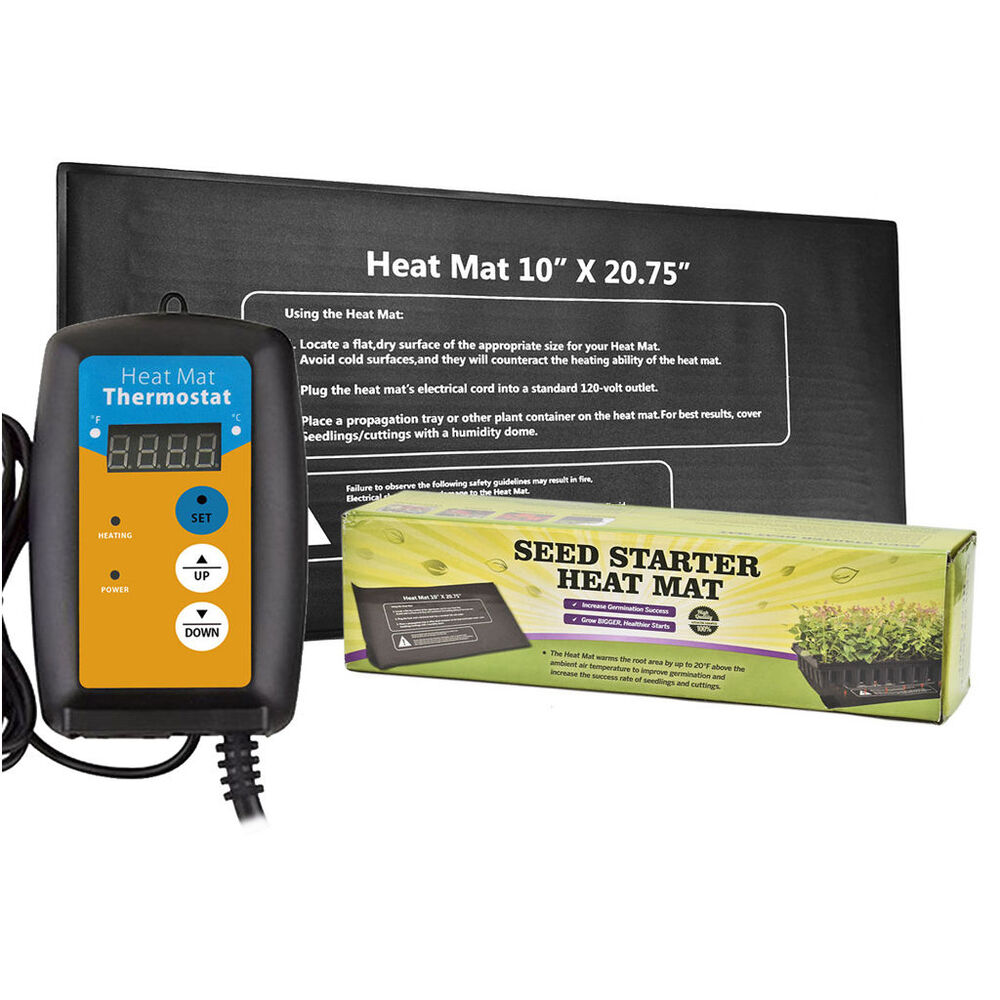 Hydroponic Seedling Heat Mat Digital Thermostat Available