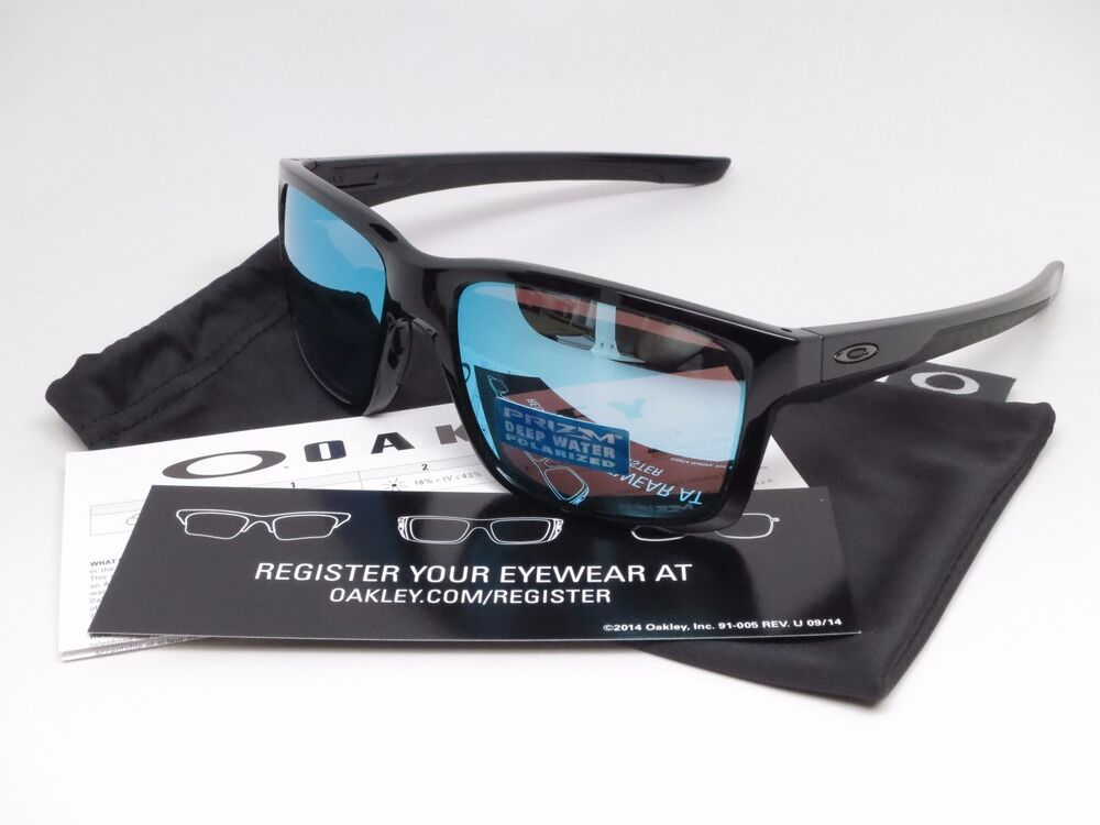 fe0330126c Details about Oakley Mainlink OO9264-21 Polished Black w Prizm Deep H20  Polarized Sunglasses