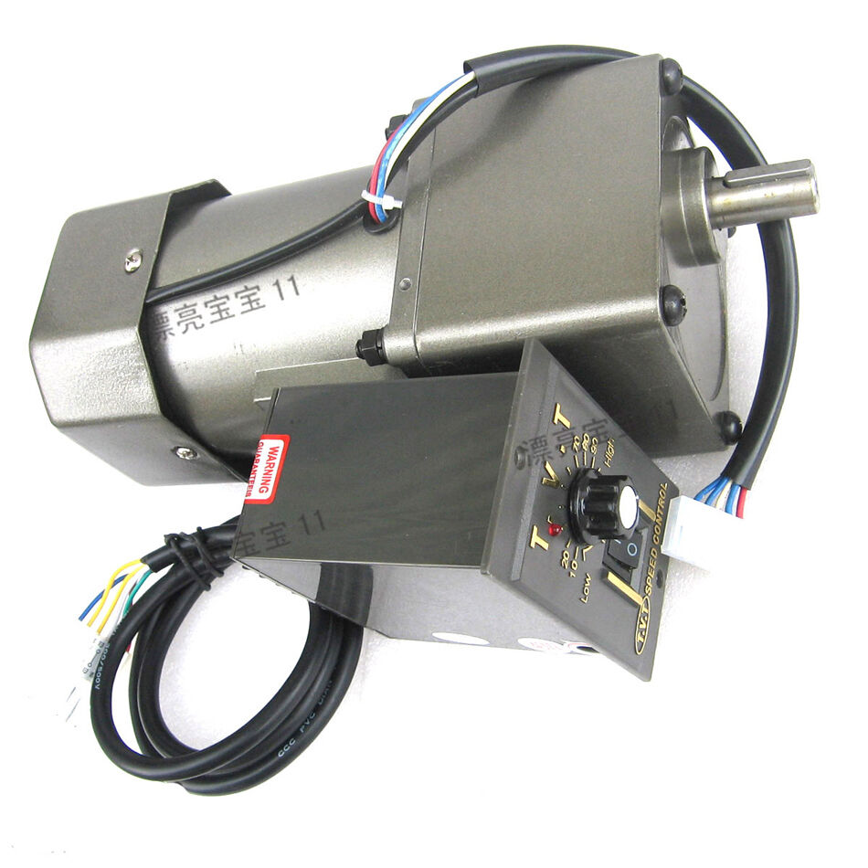 1pcs ac220v 120w gear motor adjustable speed with assembly for Variable speed gear motor