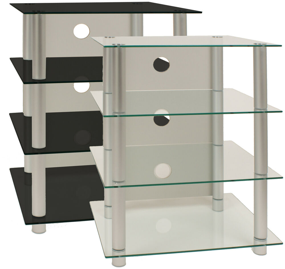 vcm hifi m bel rack phonom bel regal tisch alu glas ebay. Black Bedroom Furniture Sets. Home Design Ideas