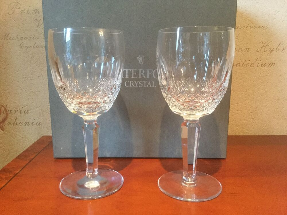 Waterford Crystal Colleen Tall Water Large Wine Glasses