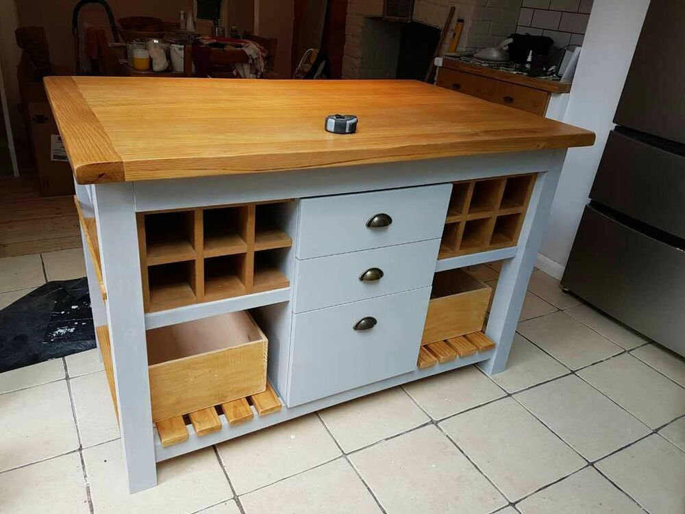 kitchen island unit butchers block ebay