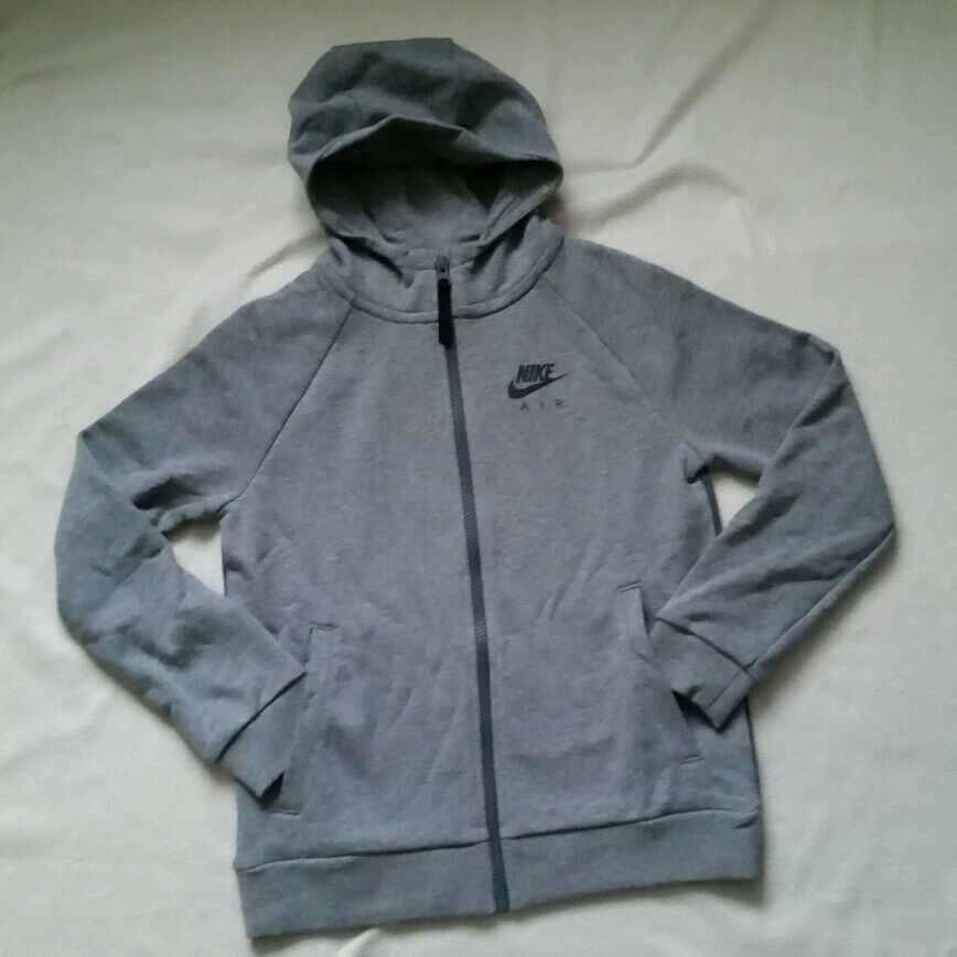 8bac5afd5f03 Details about NIKE AIR MAX HOODIE JNR BOYS ZIP UP GREY - LOOK AT THE BACK!  - RRP £40