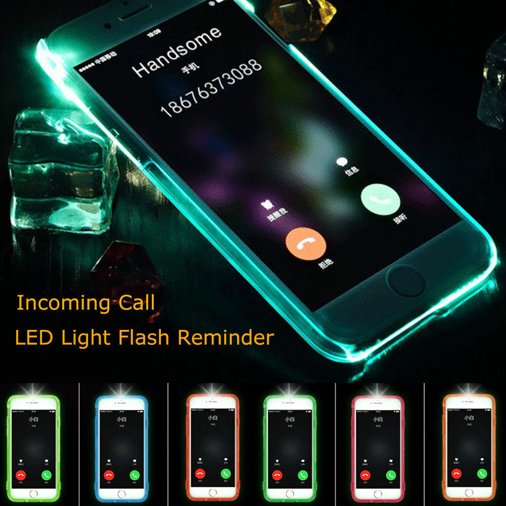 led flash iphone led flash light up remind incoming call cover skin 12565