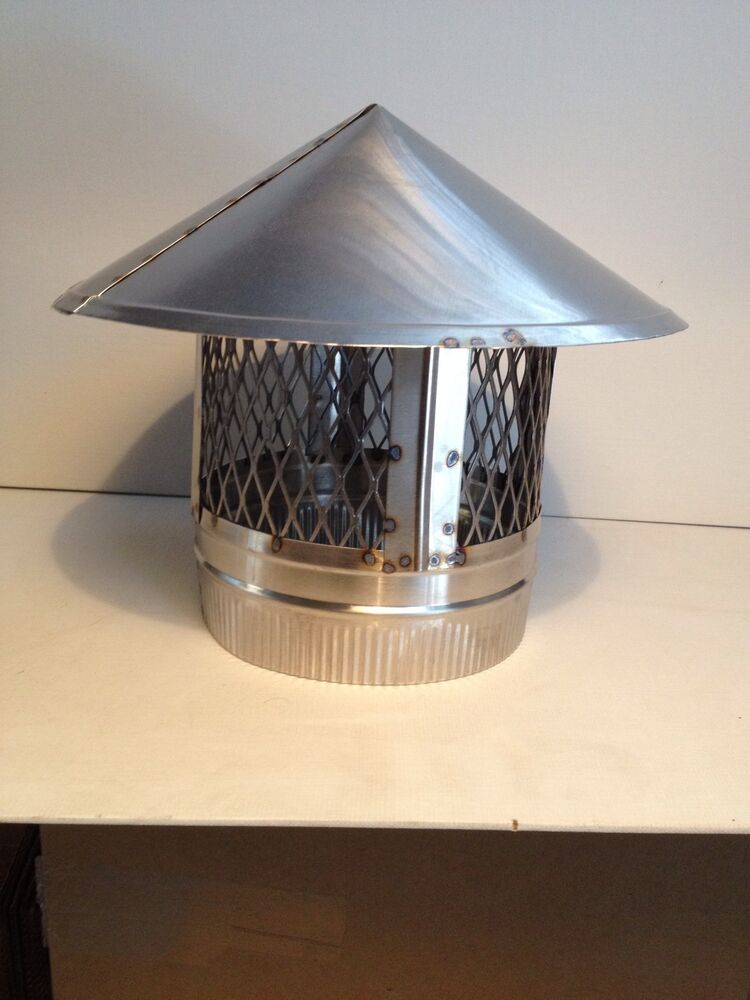 8 Inch Stove Pipe Stainless Steel Chimney Cap Ebay