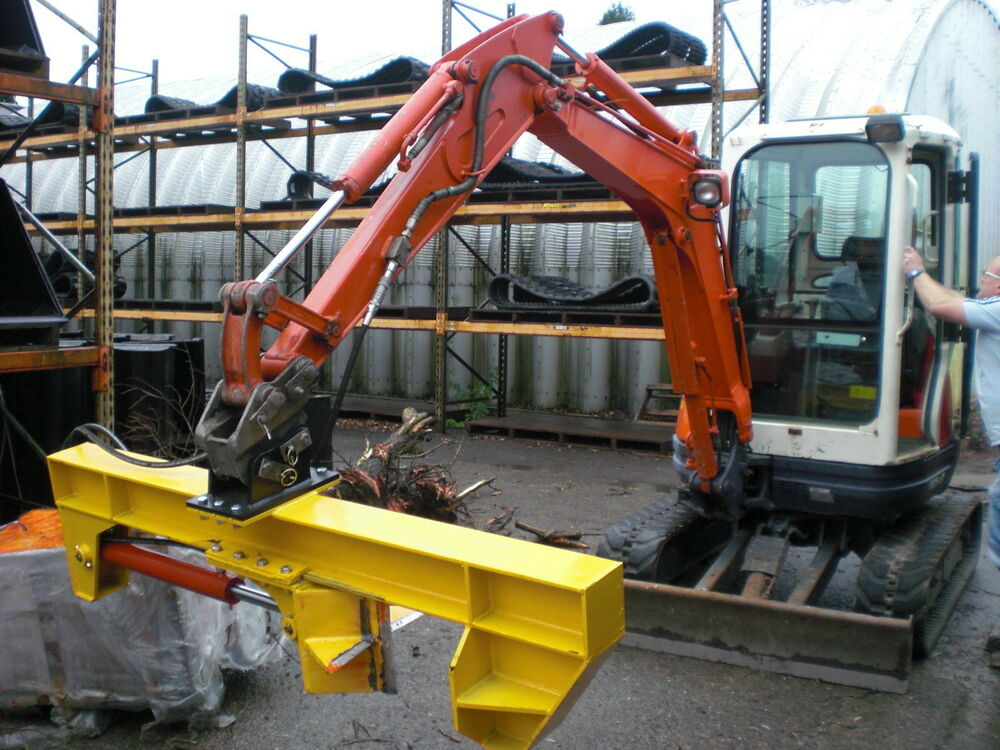 Log Splitter Attachment For 2 5 To 8 Tonne Mini Digger