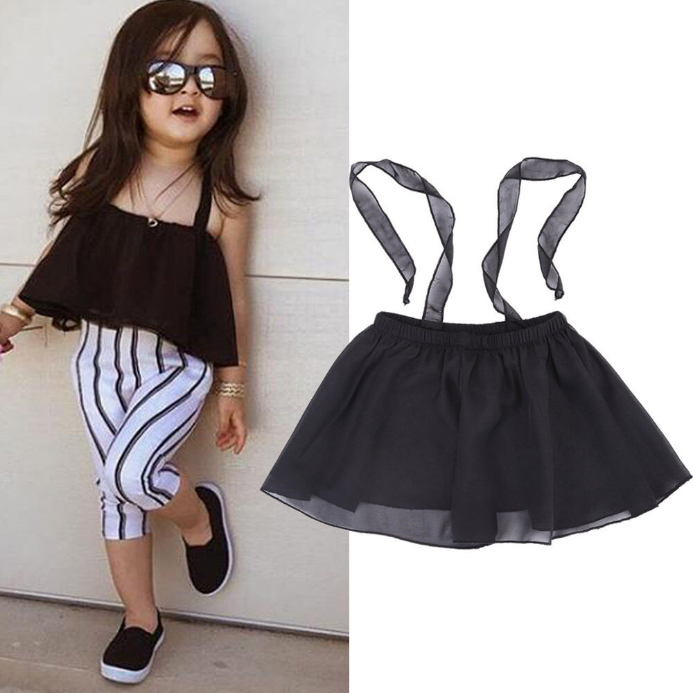 Summer New Fashion Style Kids Girls Cute Little Black Tutu