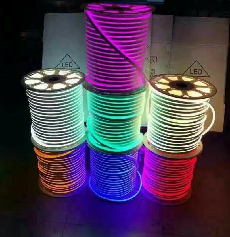 Neon Led 12v : dc 12v 24v 2835 waterproof led neon rope light 120led m flexible soft strip bar ebay ~ Medecine-chirurgie-esthetiques.com Avis de Voitures
