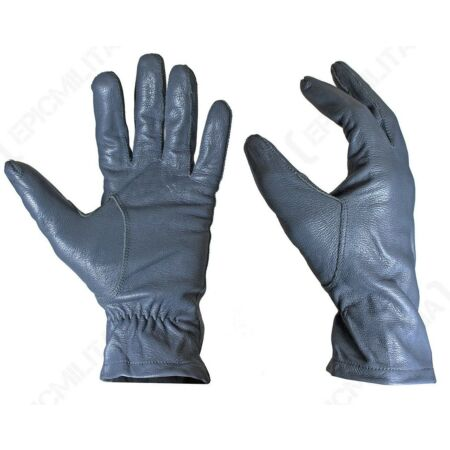 img-Original German Army Leather Gloves - Winter Driving Smart Surplus Military Grey