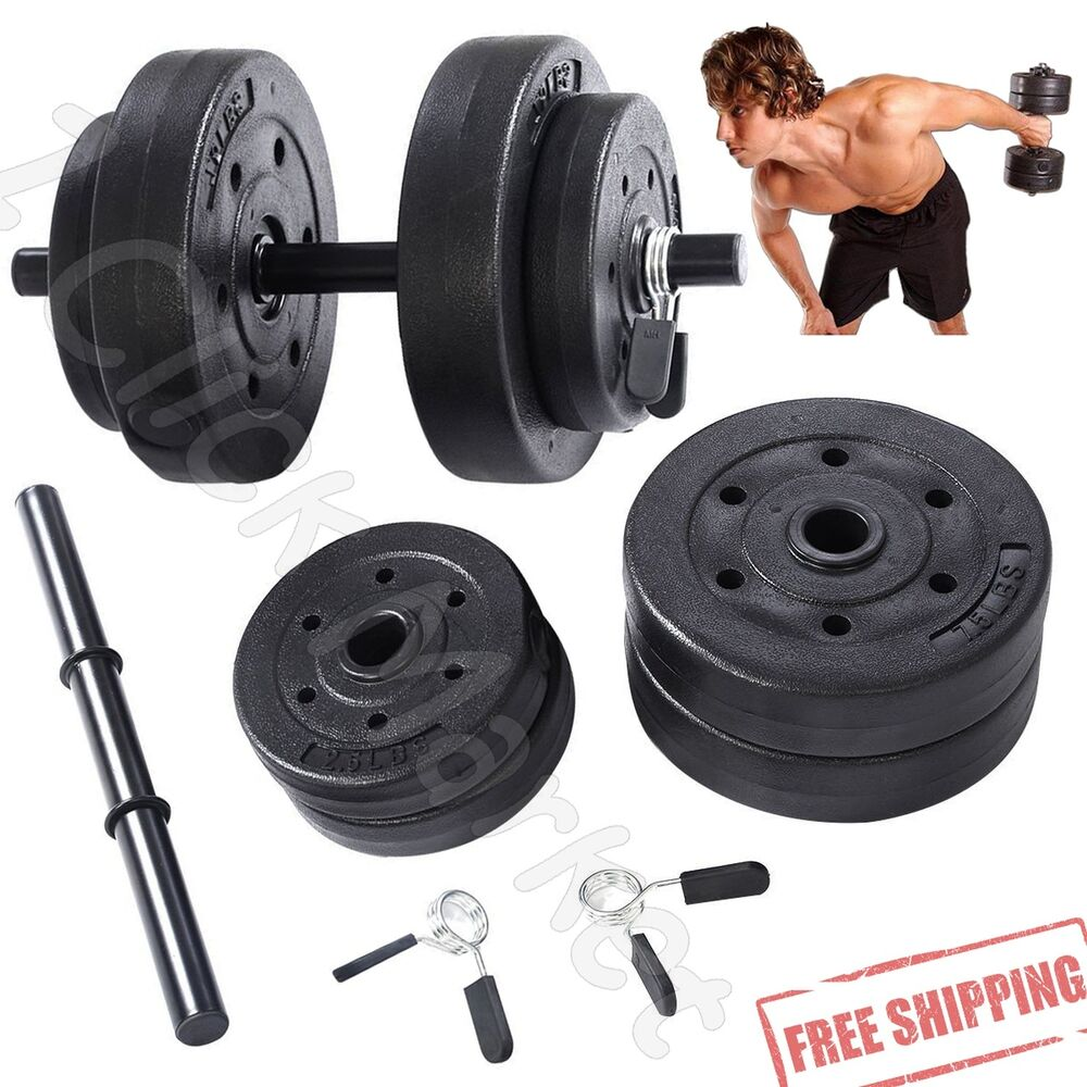 Exercise Barbell Dumbbell: Adjustable Dumbbell Set Full Body Hand 40 Lbs Weights