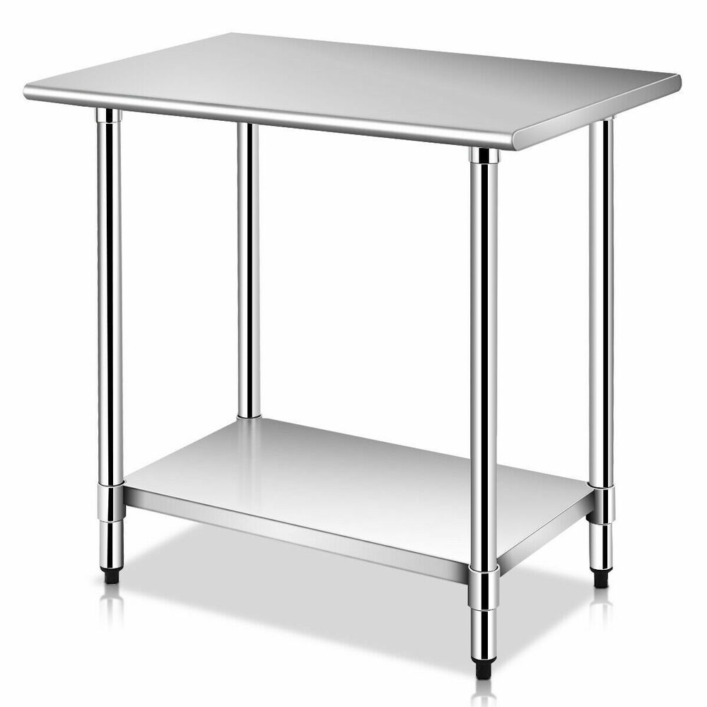 24 x 36 stainless steel work prep table commercial kitchen restaurant new ebay - Industrial kitchen table stainless steel ...