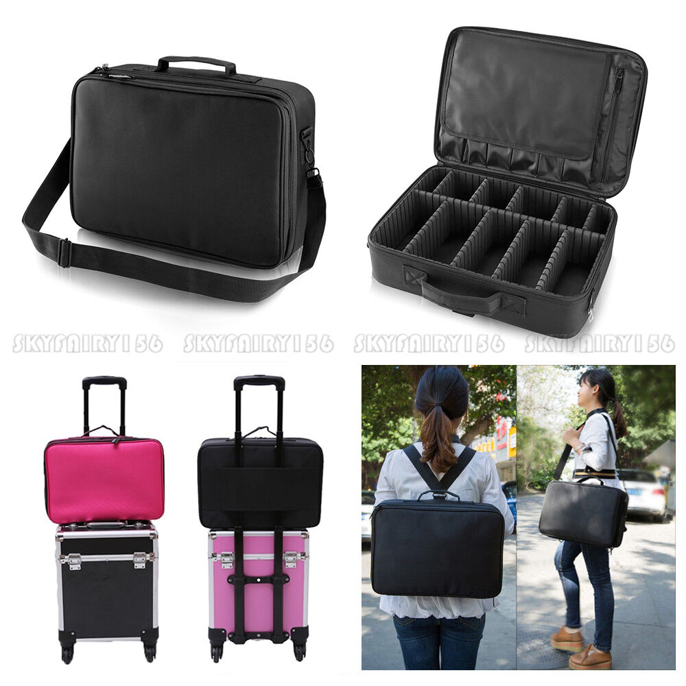 pro 16 makeup bag cosmetic toiletry case storage handle organizer travel kit ebay. Black Bedroom Furniture Sets. Home Design Ideas
