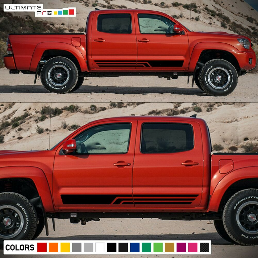 Decal Sticker Vinyl Side Stripe Body Kit For Toyota Tacoma