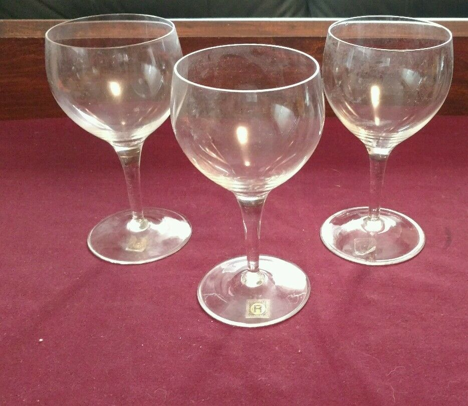 crystal wine glasses vtg rogaska boris kidric glass factory set of 3 wine 30002