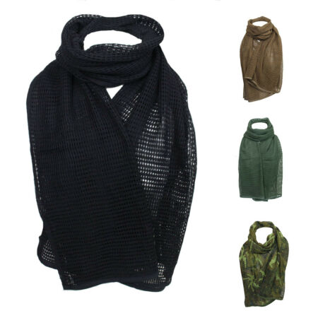 img-NET SCARF - Hunting Army Airsoft 100% Cotton Scrim Netting Military Head Wrap