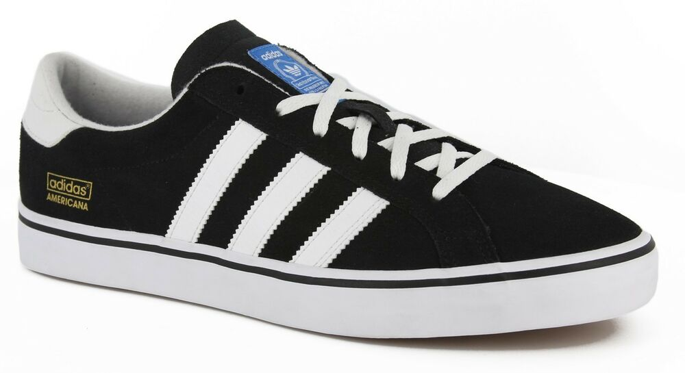 official photos 4d081 a4656 Adidas AMERICANA VIN Black White Blue Skateboarding Discounted (121) Mens  Shoes  eBay