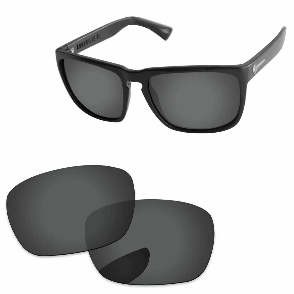 d0cfcc2a12b Details about Stealth Black Polarized Replacement Lenses For-Electric  Knoxville XL Sunglasses