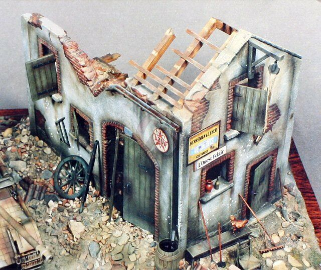 Mda City Apartments: Verlinden 54mm (1/35) Ruined Barn Building Section