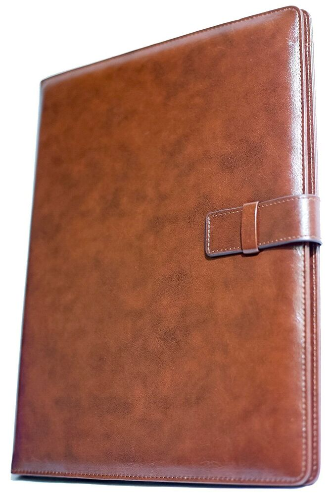 Professional Leather Business Resume Portfolio Folder