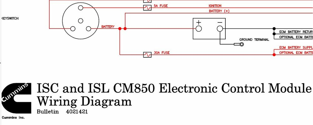 wiring diagram cummins isc and isl cm850 4021421