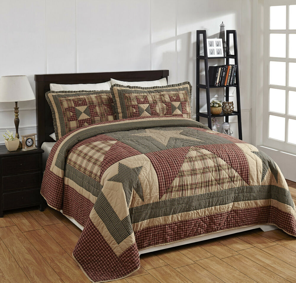 "Bedding Decor: 4 Piece QUEEN ""PLYMOUTH"" Quilted Bedding SET"