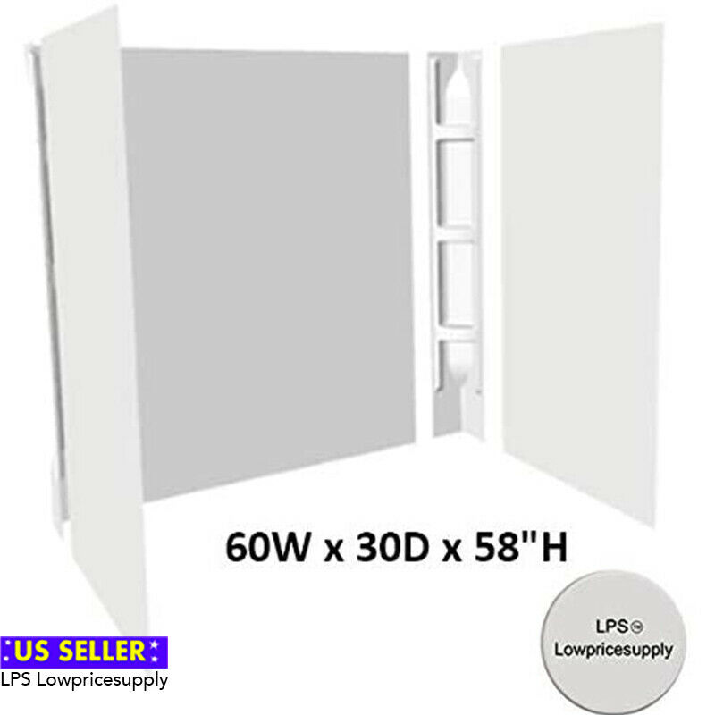 Bath Tub Shower Wall Surround 5 Piece White Glue Up Wall