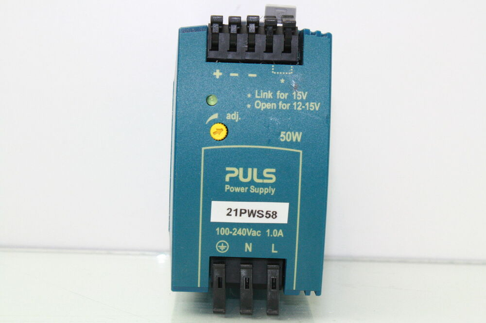 puls 12 15v dc 50w power supply industrial power supply din rail ebay. Black Bedroom Furniture Sets. Home Design Ideas