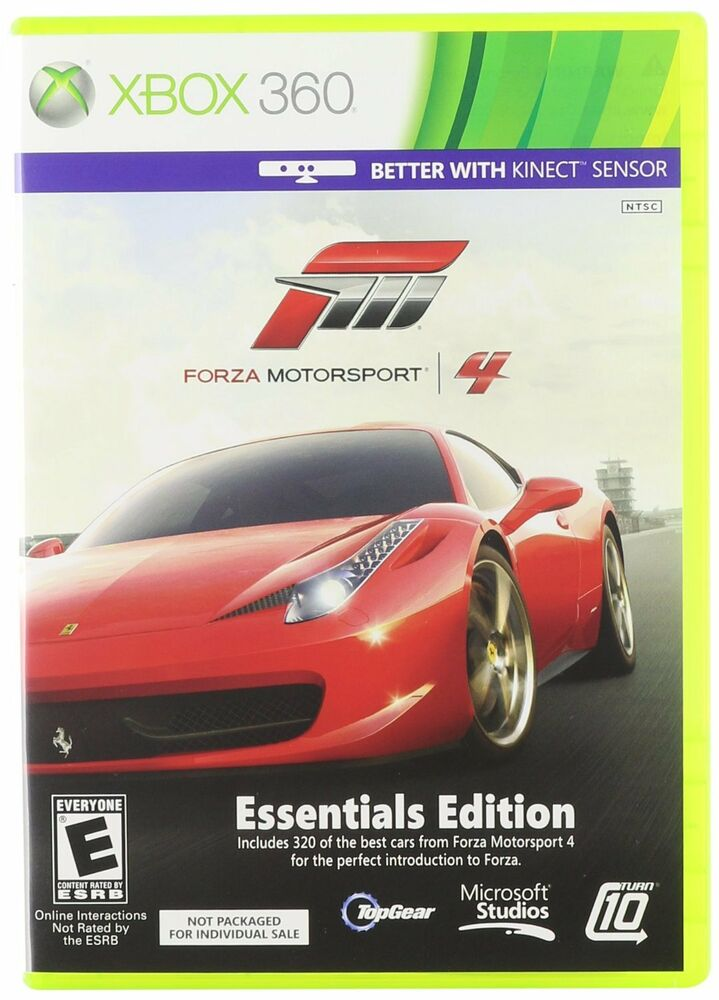 forza motorsport 4 essentials edition xbox 360 also works. Black Bedroom Furniture Sets. Home Design Ideas