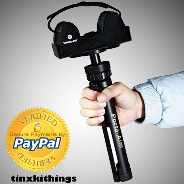 Portable Gun Rest Tripod Adjustable Aim Height Folding