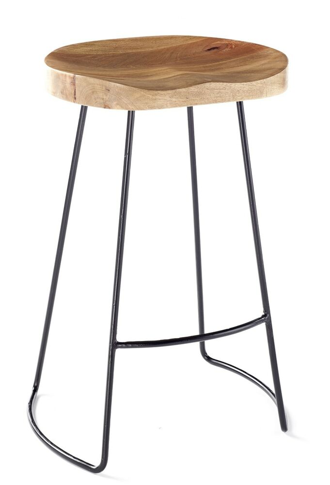 Vintage rustic designer kitchen pub bar designer stool for Industrial design bar stools