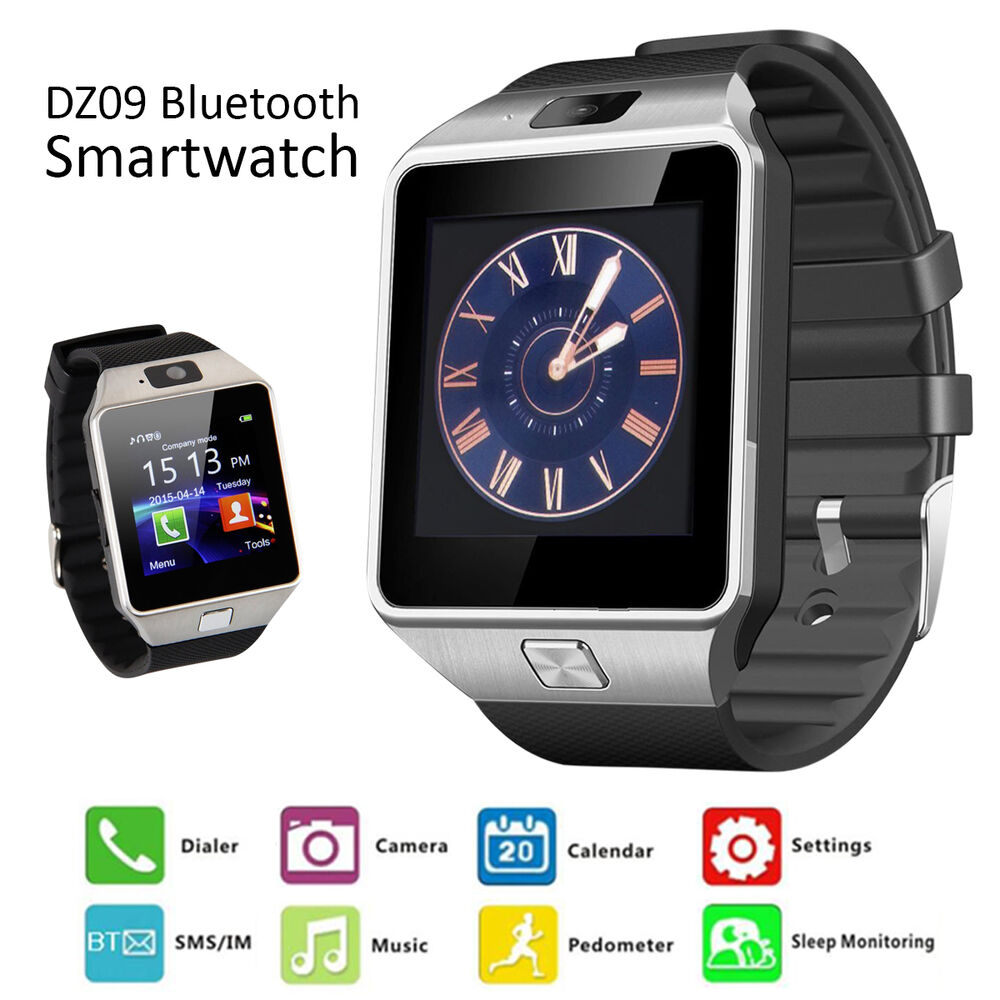 DZ09 Bluetooth Smart Watch GSM SIM Camera for iPhone ...