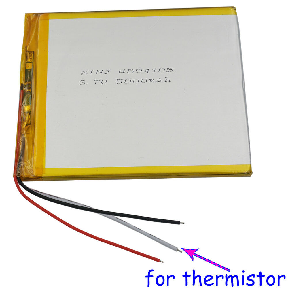 37v 5000mah Polymer Li Battery 3 Wires For Thermistor Gps Tablet Pc 4594105 600682491099 Ebay Thermistors Wiring In Parallel