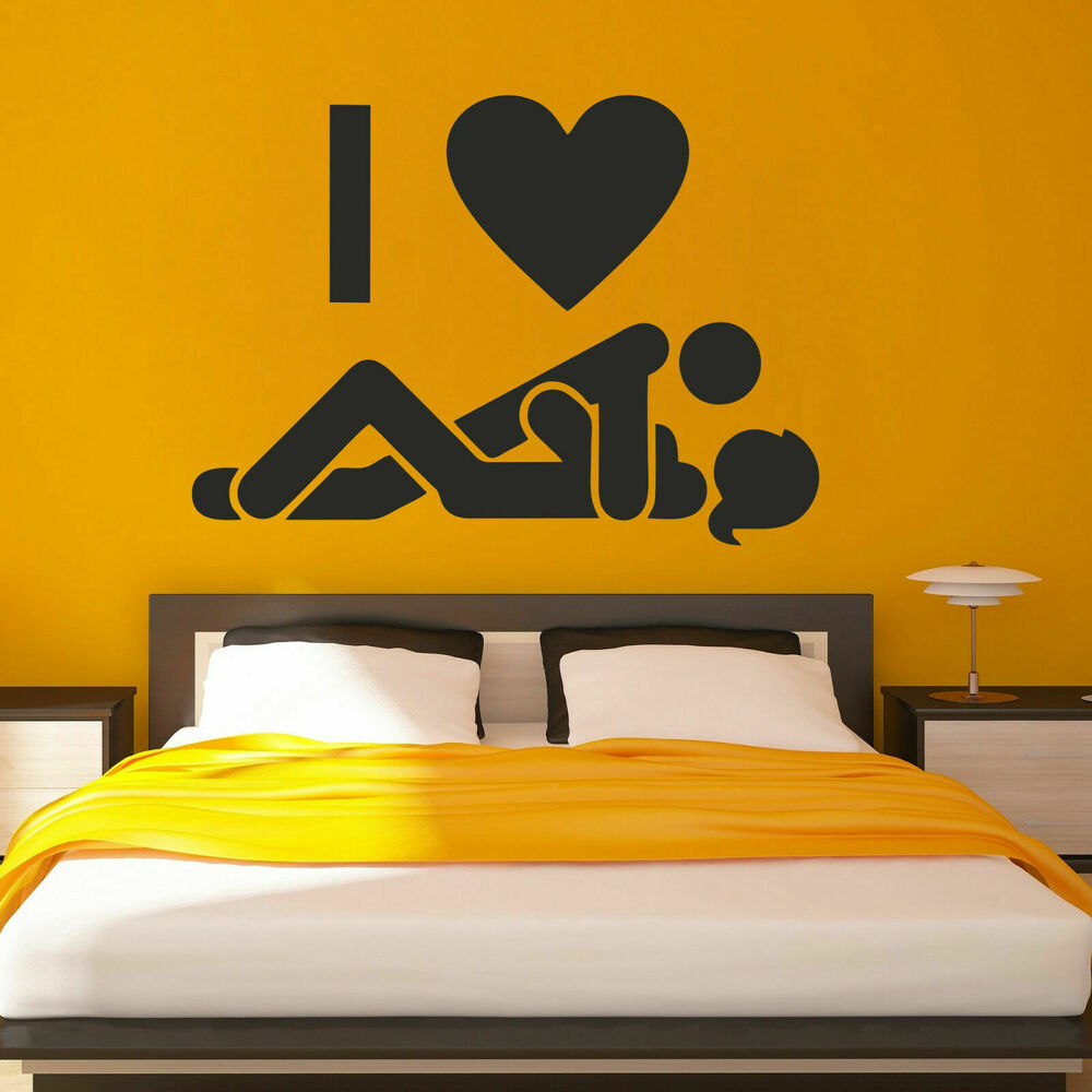 i221 wall decal icon love sex couple two bedroom joke guy. Black Bedroom Furniture Sets. Home Design Ideas