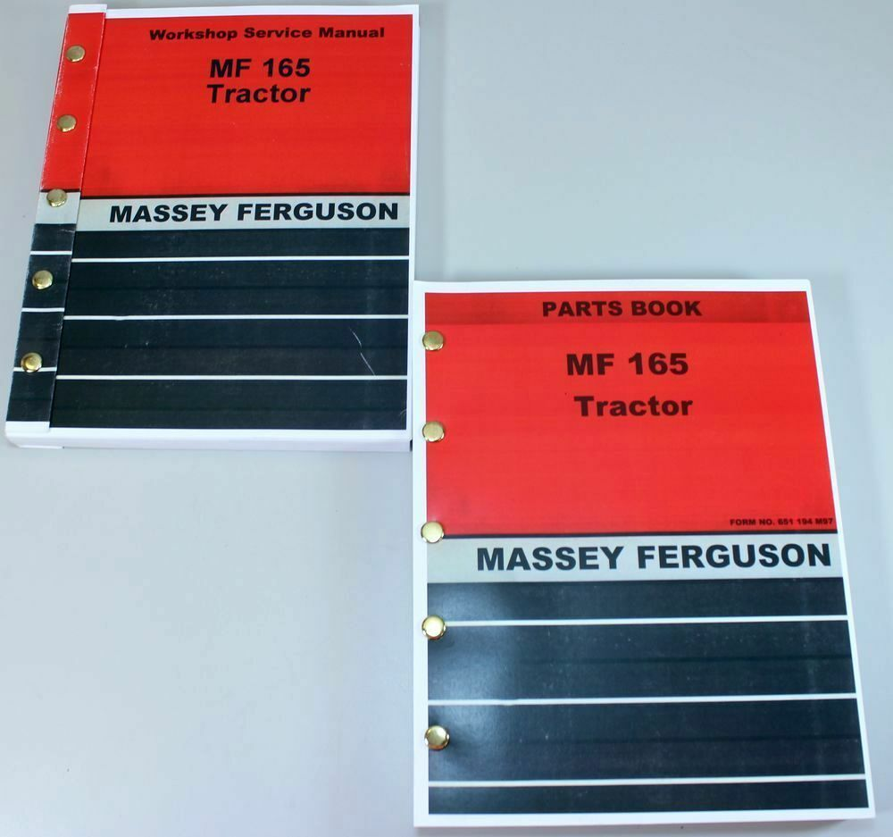 SET MASSEY FERGUSON 165 TRACTOR PARTS SERVICE REPAIR SHOP MANUAL WORKSHOP  MF165 | eBay