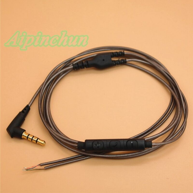 3.5mm DIY Earphone Audio Cable with Mic Repair Replacement ...