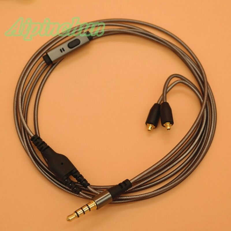 1.2meter OFC Cable Upgrade SHURE SE215 SE535 SE846l UE900 with Mic microphone