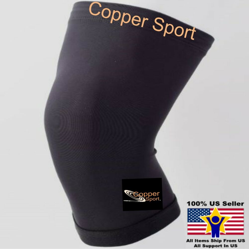 Weightlifting Copper Sport Knee Sleeve Compression Fit ...