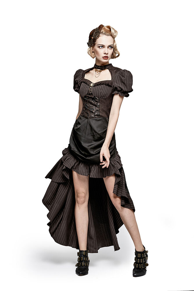 Punk rave steampunk victorian style high low ruffles for Victoria magazine low country style