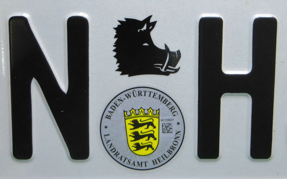 2 st wildschwein auto nummernschild aufkleber sticker au. Black Bedroom Furniture Sets. Home Design Ideas