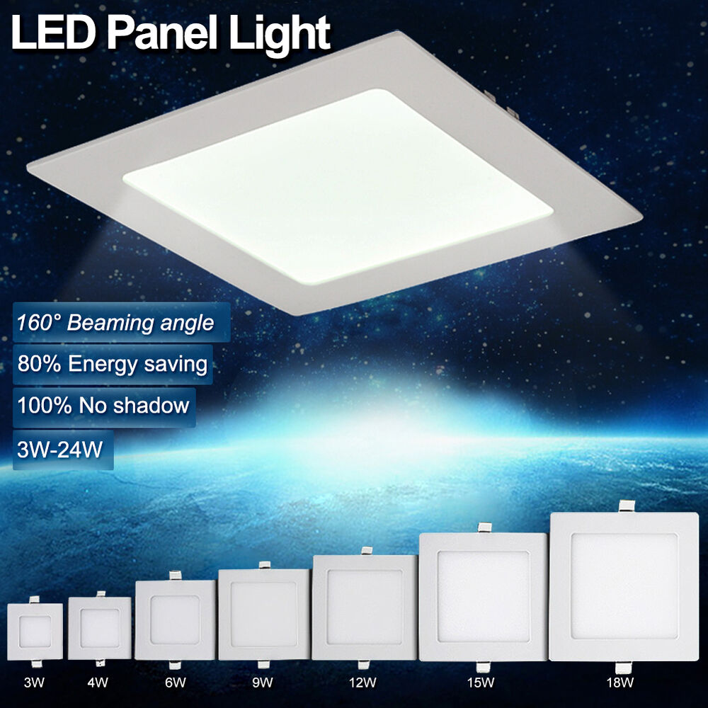 110v 220v led recessed ceiling panel light square downlight hotel fixtures ec07 ebay. Black Bedroom Furniture Sets. Home Design Ideas